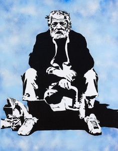 Fig 7. Homeless Down Under 2009, Acrylic on Canvas, 156 x 116 cm.