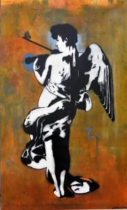 Fig1. Angel 2009, Acrylic on board, 200 x 125 cm