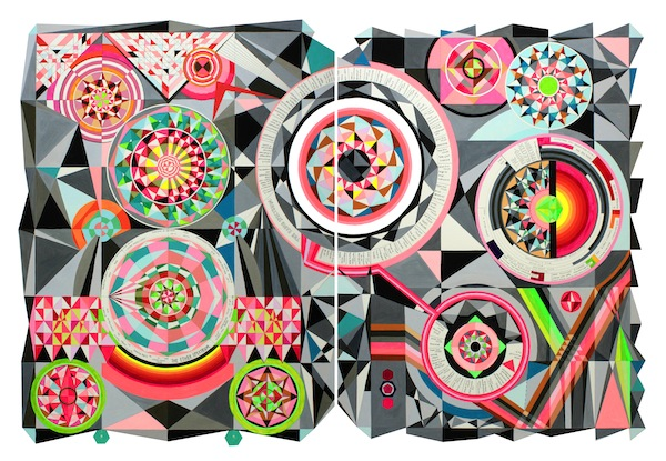 Tricky Walsh The Electromagnetic Spectrum 2014 gouache on paper 120 x 80 cm
