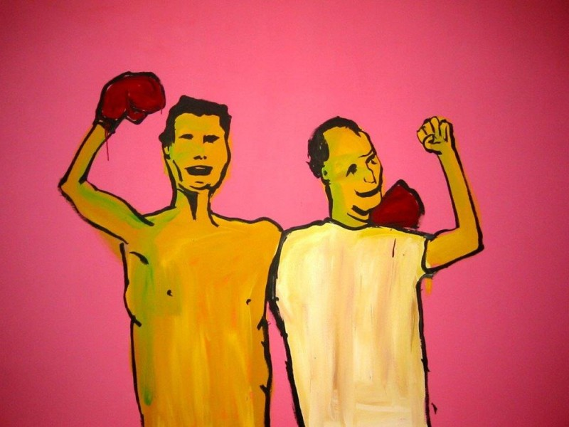 Adam Cullen 'Two Idiots' 2004